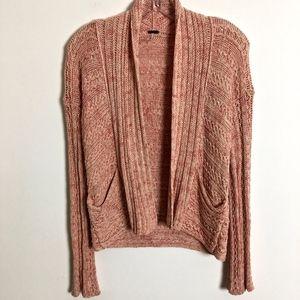 Free People open cardigan sweater peach size XS